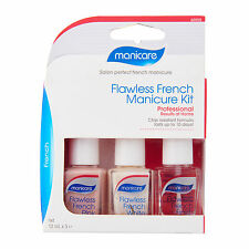 Manicare Flawless French Manicure Kit Long Lasting French Style in 3 steps 12 mL