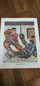 1977 PRUDENTIAL MOMENTS POSTER PRINT MAURICE ROCKET RICHARD CANADIENS 5 GOALS