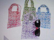 12 Fabric Hibiscus Print SM Gift TOTE BAGS party supplies FREE S/H hawaiian luau