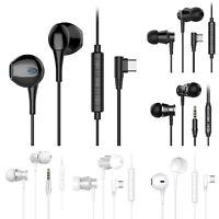 Langsdom Type-C 3.5mm Headset In-Ear Metal Heavy Bass Earphone Headphone w/ Mic