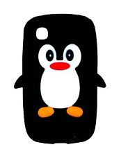 Black Silicone Penguin Phone Case / Cover for LG L40 Dual D170