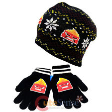 Disney Insideout Anger Beanie Snow Flakes Intrasia Knitted Hat Gloves Set