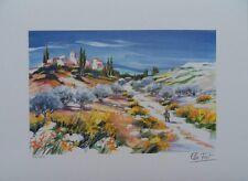ELLA FORT - Pequeño sentier provenzal - Litografía original firmada #250ex