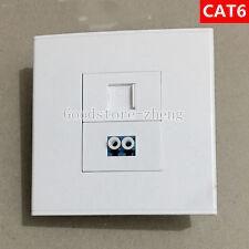 Wall Face Plate Fiber Optical LC Connector Coupler +RJ45 CAT6 Socket Faceplate