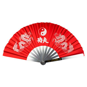 Fächer aus Aluminium für Kung Fu Tai Chi    Handfächer Klappfächer