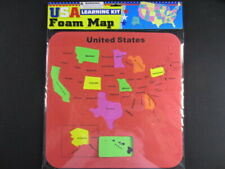 Usa Foam Map Set Learning Kit - Colors Very!