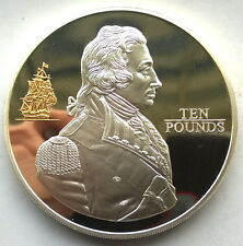 Jersey 2005 Battle of Trafalgar 10 Pounds 5oz Silver Coin,Proof
