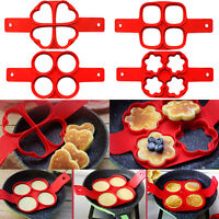 Nonstick Pancake Maker Mould Silicone Omelette Egg Ring Maker Kitchen Mold Tool
