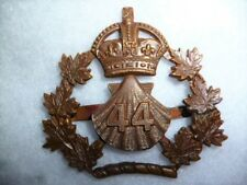 Canadian Militia 44th Lincoln & Welland Regiment Officer's Bronze Cap Badge 1910