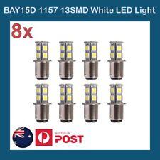 8 X LED BRAKE STOP TAIL LIGHT BULB GLOBE 12V LIGHT CAR UTE 4WD BAY15D 13SMD 505
