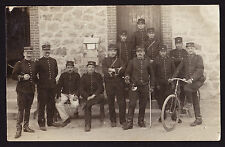 CPA French France Military War Soldiers Bicycle Cornet Trumpet Music Postcard PC
