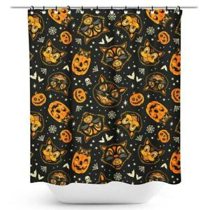 Sourpuss Classic Halloween Shower Curtain