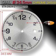 DIAL FOR MOVEMENT ETA 2824-2 + SW200 Ø 34.5 MM, CHROME SUNBRUSH