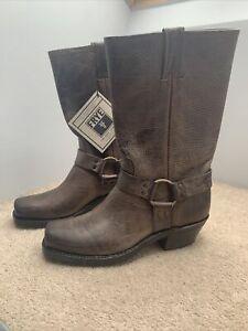 FRYE Harness Cowboy Boot Size Uk 7 US 9 Colour Smoke Width M