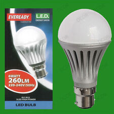 6W LED Bajo Consumo GLS Eveready Bombillas Bayoneta B22 Lámparas & R63 Repuesto