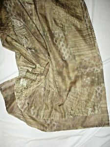 CROSCILL TUSCAN BROWN RUST GOLD (1) SHIMMER SHEER FABRIC SHOWER CURTAIN 68 X 71