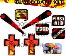 """The WALKING DEAD Pinball """"BLOOD BATH TARGET/FLIPPER/CROSS Armour Mod-"""