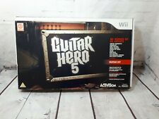Nintendo Wii Guitar Hero Bundle   Boxed - Tested & Working