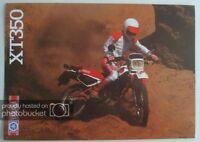 YAMAHA XT350 Motorcycle Sales Brochure c1985 #LIT-3MC-0107850-85E