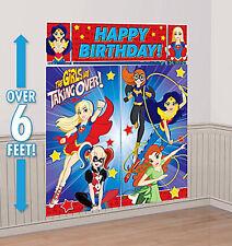 DC comics SUPERHERO GIRLS Scene Setter HAPPY BIRTHDAY party wall PHOTO BACKDROP