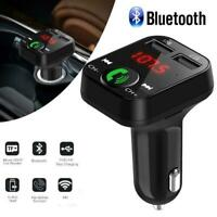 Car Bluetooth FM Transmitter Wireless Radio Adapter Dual Player USB Charger Z8Z5