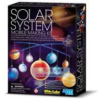 4M Kidz Lab Glow in the Dark Solar System Mobile Making Kit Educational Kids Toy