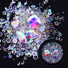 3D Nail Rhinestones AB Color Crystal Beads Sharp Bottom Nail Art Manicure Decor