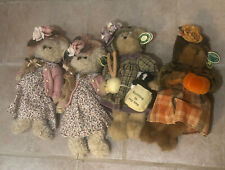 The Bearington Collection Lot Of 4 Autumn Harvester Daisy Halloween Bear