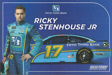 "2018 RICKY STENHOUSE JR ""FIFTH THIRD BANK"" #17 NASCAR MONSTER ENERGY POSTCARD"