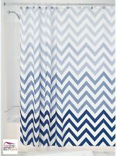 InterDesign Shower Curtain 72 X 72 Polyester Fabric Blue Bathroom Decor Washable