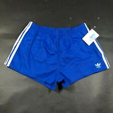 Vintage Adidas Trefoil Mens M 32-34 Running Shorts Blue White Cloth Lined NWT 2