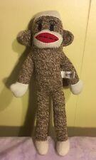"Maxxie The Sock Monkey Bendable Plush 11"" Brown Tan Stuffed Animal 2012 Eyelash"