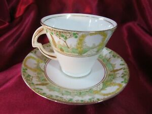 ART DECO ENGLISH STANDARD FINE CHINA CUP AND SAUCER
