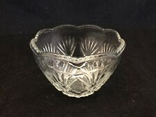 """3 3/8"""" INCH KIG INDONESIA PRESSED GLASS BOWL/DISH-STAMPED CUSTARD CUP"""