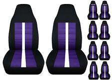Chevy s10 bucket front car seat covers black-purple w/xtreme/ZR2/SS/BLAZER...