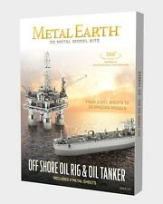 Fascinations Metal Earth Model Kits - Offshore Oil Rig & Oil Tanker Gift Box Set