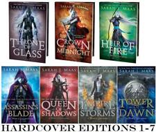 Young Adult THRONE OF GLASS Series by Sarah Maas HARDCOVER Collection Books 1-7
