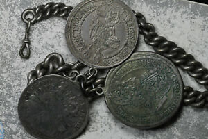 Remarkable Watch Chain - Thalers from 1660 Austria, 1776 Bavaria, 1698 Hungary