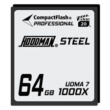 Hoodman 64GB Compact Flash Memory Card Professional STEEL 1000x UDMA 7 Camera