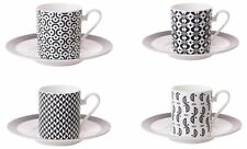 Roy Kirkham Set of 4 Primrose Bordier Small Coffee Cans Cups & Saucers 200ml