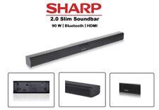 Sharp HT-SB110 90W 2.0 Slim Soundbar Bluetooth HDMI  Home Cinema ARC CEC NEW