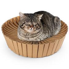 New listing Kitten Cat Scratcher Cardboard Bed Scratching Post Kitty Catnip Sleeping Lounge