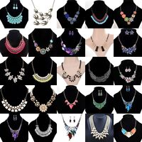 Womens Fashion Bib Pendant Chain Choker Collar Chunky Statement Necklace Gifts