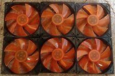 6x XigmaTek PLA12025S12L-4 with White LED PC Case Cooling Fan 120mm x 25mm