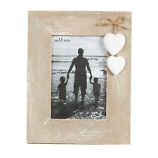 Love Photo Frame Wooden White Hearts Standing Frame Gift Family