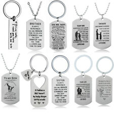 Stainless Steel Pendant Necklace For Women Men Mom Dad Son Daughter Sister Gift