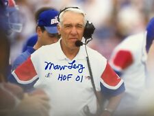 MARV LEVY BUFFALO BILLS HALL OF FAME 2001 AUTOGRAPHED SIGNED 8X10 #3