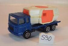 MAJORETTE 1/100 Nº 223 Saviem Chantier Camion Maison témoin Transporteur Nº 2 #590