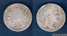 Premier Empire - 5 Francs Napoléon I au revers empire 1813 M Qualité B Toulouse
