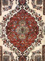 Tremendous Tabatabaei - 1960s Antique Oriental Rug - Floral Carpet - 7.8 x 9.10
